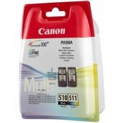 Canon PG-510 / CL-511 Negro, Cian, Magenta, Amarillo cartucho de tinta
