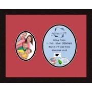 Arte a marcos doble-multimat 438-762/89-FRBW26061 alfombrilla de fotos con Collage enmarcado alfombra doble con 1-5 x 7 y 1-8 x 10 aberturas y café exprés marco
