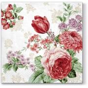 Lunchservet 33x33 pakje 20 st., Mysterious roses