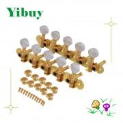 Yibuy 2 x Mandolin 10 String Electric Guitar Tuning Key Machine Head 5R5L Golden