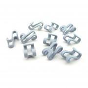 EY S Forma de percha mini gancho ahorrar espacio Armario-Gris