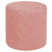 IDIMEX Tabouret pouf ORLEANS, en velours rose