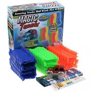 MSE Race Track Glows in Dark Magic Tracks Race Track Gifts New (pack of 1 set)165 pieces of Glow Track!