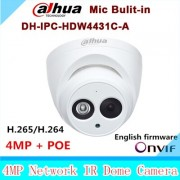 Dahua IPC-HDW4431C-A replace IPC-HDW4421C-A 4MP Network IP Camera IR POE CCTV Mic Built-in H265 H264 dome DH-IPC-HDW4431C-A