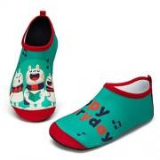 YALOX Zapatos de agua para niños y niñas, zapatos de agua para nadar, calcetines de agua, zapatos de piscina, zapatos de playa para niños grandes y niños pequeños, Aqua Shoes Kids-hct, 3-4 Toddler