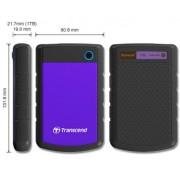 """Transcend TS1TSJ25H3P External HDD 1TB, USB 3.0, 2.5"""", Black/Purple"""