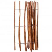 vidaXL Latkový plot, lieskové drevo 120x250 cm