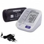 Tensiometru Omron M3 Comfort + Adaptor Priza Alb/Gri
