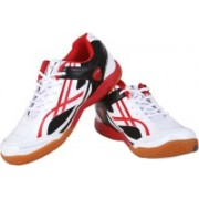 Proase Laminated Badminton Shoes For Men(White, Red)