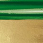 Merkloos Knutsel folie groen/goud 80 cm