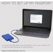 WD 1TB Black USB 3.0 My Passport Portable External Hard Driv