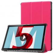 Bolsa Folio Tri-Fold para Huawei MediaPad M5 10/M5 10 (Pro) - Cor-de-Rosa Forte