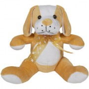 Ultra Cute Sitting Dog Soft Toy 10 Inches Brown