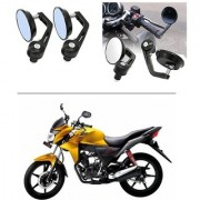 AutoStark 7/8 22cm Motorcycle Rear View Mirrors Handlebar Bar End Mirrors - Honda CB Twister