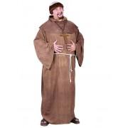 Vegaoo.es Disfraz de monje con peluca talla grande hombre