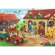 Puzzle Ravensburger - Munca La Ferma, 2x12 piese (07560)