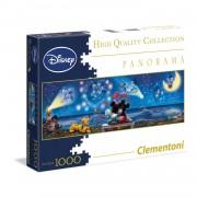 Clementoni Disney Mickey en Minnie panorama puzzel - 1000 stukjes