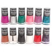 Makeup Mania Exclusive Nail Polish Set Of 12 Pcs (Multicolor Set # 81)