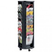 Paperflow Literature Display Mobiel 40 x A4 Black