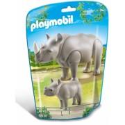 Rinocer cu pui City Life Zoo Playmobil