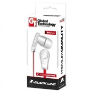 Global Technology Gt Auricolare A Filo Stereo Be Bass In-Ear Iph Con Microfono Jack 3,5mm Red Per Modelli A Marchio Sony Ericsson