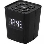 Радио с часовник DENVER CR-918BLACK с PLL FM радио и функция за двойна аларма, 0.7 инчов LED дисплей, Черен
