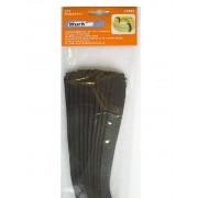 Tépőzár készlet 10db 450×25mm fehér/fekete színű Kód:019880