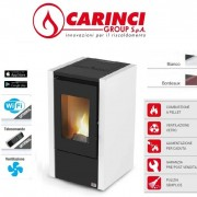 Carinci Stufa A Pellet Ad Aria Carinci Air 60 - 6,15 Kw Colore Bianco – New 2019