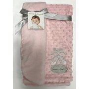 Blankets & Beyond Cuddly Pink Soft Plush Fleece Blanket with Ballet Slippers by Blankets and Beyond