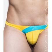 Mategear Mae Chun Back Push Up Tapered Sides V Front Ultra Bikini Swimwear Yellow 1700403