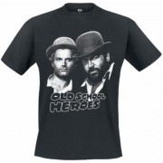 Bud Spencer - Oldschool Heroes - T-Shirt - schwarz