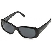 Vogue Eyewear VOGUE 0VO2606S anteojos de sol rectangulares para mujer, Negro / Gris, 55 mm