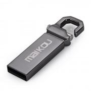 Maikou MK2204 16 GB USB 2.0 Flash Tungsteno U disco de acero - Gris oscuro