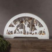 Fauna LED candle arch, white