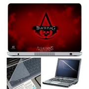 FineArts Laptop Skin 15.6 Inch With Key Guard & Screen Protector - Assassins Creed IV Black Flag
