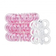 Invisibobble The Traceless Hair Ring confezione regalo elastico per capelli Original 3 pz Rose Muse + nebbia per corpo Nano 3 pz Crystal Clear donna