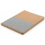XD Collection notitieboek ecologisch A4 kurk bruin/grijs