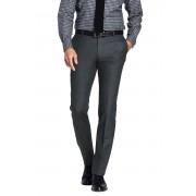 ランズエンド LANDS' END メンズ・ウール・フランネル・パンツ/スリムテーパード/プレーン/股上浅め(チャコール)