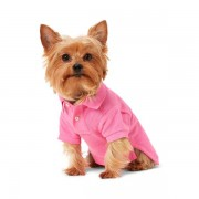 Ralph Lauren Pet Big Pony Mesh Dog Polo Shirt - Baja Pink - Size: Extra Small