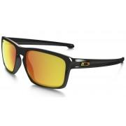 Oakley Sliver VR46 Polished Black Fire Irid Gafas de sol Oro