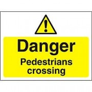 Unbranded Warning Sign Pedestrians Crossing Fluted Board 45 x 60 cm