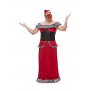 Deguisetoi Déguisement femme à barbe rouge homme - Taille: M