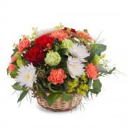 Interflora Cesta Flores mista em tons Quentes e Verde