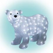 Akril jegesmedve, kültéri, 120 WH LED, 42 cm