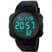 idivas 104 NEW Readeel Simple Sport Watch Display Watch Outdoor Men Watch Student Multifunction Digital Watch Blue 6 MONTH WARRANTY