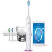 Четка за зъби с акумулаторна батерия Philips Sonicare Diamond Clean Smart с приложение, Персонализирано обучение, Бяла, HX9903/03