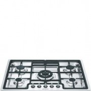 Smeg 70cm Classic Gas Hob, Stainless Steel - PGF75-4