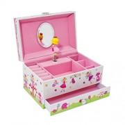 Enchanted Fairy Kids Musical Jewelry Box - Glittery Kids Music Box - Lucy Locket