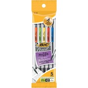Bic Mechanical #2 Pencils 0.7 Mm 5 Per Package - Assorted Colors (Pack of 6 )