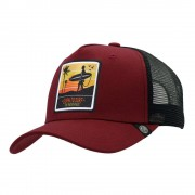 The Indian Face Gorra Trucker Born to Surf Rojo para hombre y mujer
